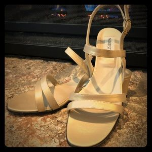 Gold Ankle Strap Dress Sandal